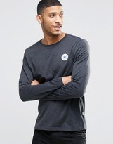 Converse Chuck Patch Longsleeved T-shirt In Black 10002856-a01