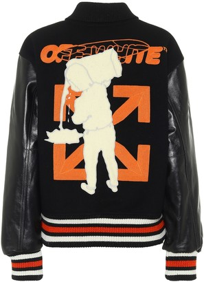 Off-White Barrel varsity jacket