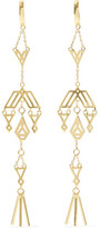 Noir Zapotec Gold-Tone Earrings