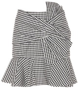 Veronica Beard Picnic Bow plaid cotton skirt