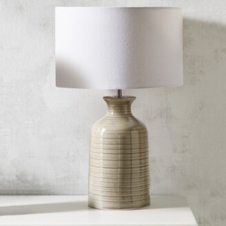 The White Company Ceramic Bottle Table Lamp, Natural, One Size