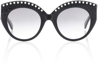 Alaia Embellished acetate sunglasses