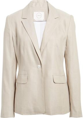 1901 One-Button Linen Blend Blazer
