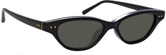Linda Farrow Slim Acetate Cat-Eye Sunglasses