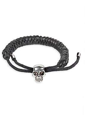 Alexander McQueen Men's Braided Leather Bracelet