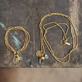 Nkuku Gold Charm Necklace And Bracelet