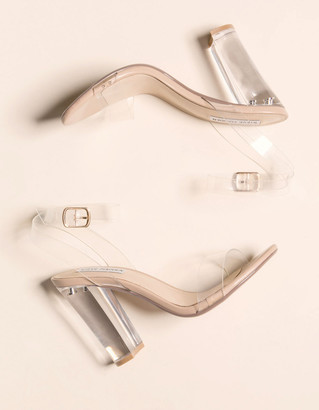 Steve Madden Camille Clear Womens Heeled Sandals
