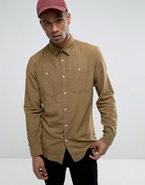 Jack and Jones Vintage Shirt in Slim Fit with Military Pockets