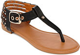 Bamboo Candice Studded Thong Sandals