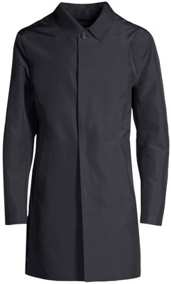 Corneliani Laser Cut Wool Raincoat