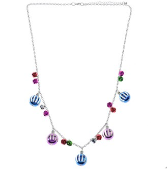 Holiday Multi-Color Ornament & Bell Necklace