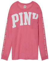 PINK Long Sleeve Campus Tee