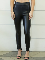 West Coast Wardrobe Slinky Leather Leggings in Black