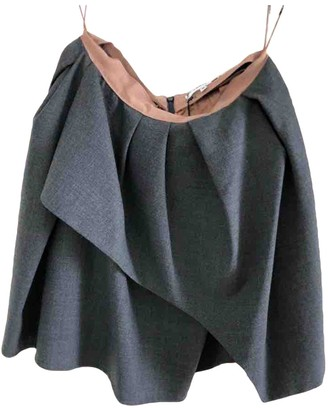 Carven Anthracite Wool Skirts