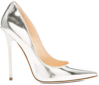 Jimmy Choo Anouk 120 Mirror Leather Pumps in Silver   FWRD