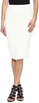 Monrow Slub Pencil Skirt