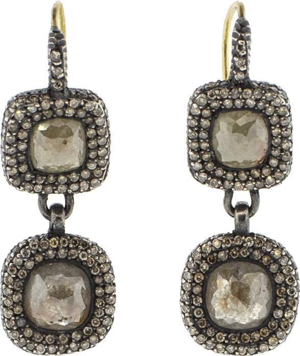 Yossi Harari Lilah Double Drop Earrings