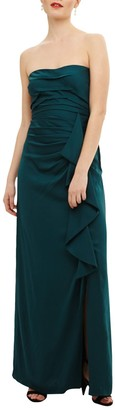 Phase Eight Collection 8 Nina Frill Maxi Dress, Teal
