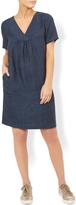 Monsoon Agatha Linen V-neck Tunic Dress