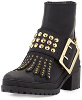 Burberry Whitchester Studded Buckle Bootie, Black