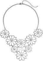 Apt. 9 Openwork Flower Bib Necklace