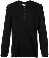 Ovadia & Sons buttoned waffle sweater