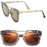 Bottega Veneta 50MM Rounded Rectangle Metal Sunglasses