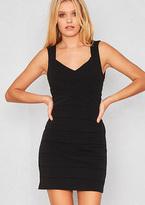 Missy Empire Rosalia Black Open Back Bodycon Dress