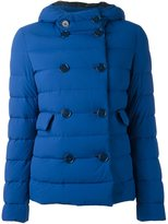 Aspesi double-breasted hooded jacket - women - Feather Down/Polyamide - S
