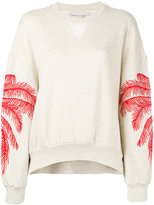 Stella McCartney embroidered palm sweatshirt - women - Cotton/Polyamide/Viscose - 40