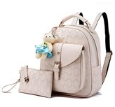 Hynbase Women Fashion Casual Soft Summer PU Leather Schoolbag Backpack Shoulder Bag