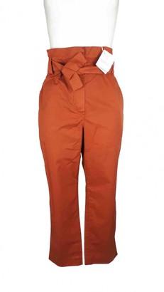 Brunello Cucinelli Orange Cotton Trousers