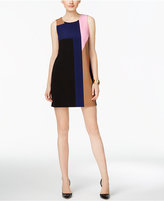 INC International Concepts Petite Colorblocked Shift Dress, Only at Macy's