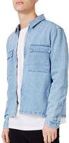 Topman Denim Zip-Through Overshirt