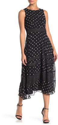 Taylor Sleeveless Dot Print Dress (Regular & Plus Size)
