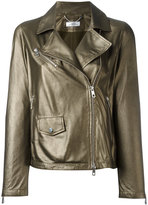 Desa 1972 - zip up jacket - women - Cotton/Leather - 44