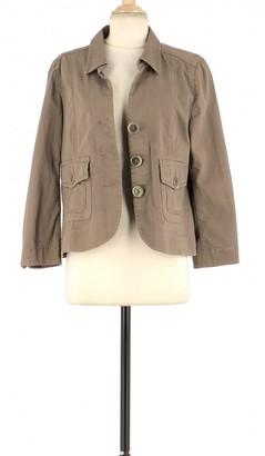 Gerard Darel Khaki Cotton Jacket for Women