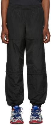 Balenciaga Black Technical Micro Faille Zipped Track Pants
