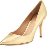 Gianvito Rossi Pointed Metallic High Pumps