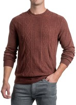 Specially made Jacquard Crew Neck Sweater - Long Sleeve (For Men)