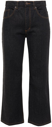 Marc Jacobs Cropped High-rise Straight-leg Jeans