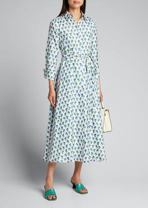 Carolina Herrera Floral-Print Silk Shirtdress