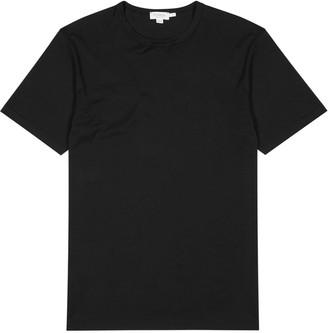 Sunspel Navy cotton T-shirt