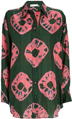 Zimmermann Poppy Relaxed Silk Tie-Dye Shirt