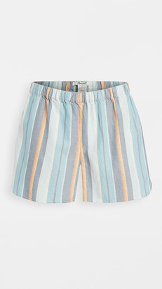 Madewell Bedtime Pajama Shorts in Solano Stripe: Colorblock Piping Edition