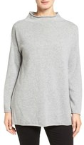 Eileen Fisher Fine Gauge Cashmere Mock Neck Sweater