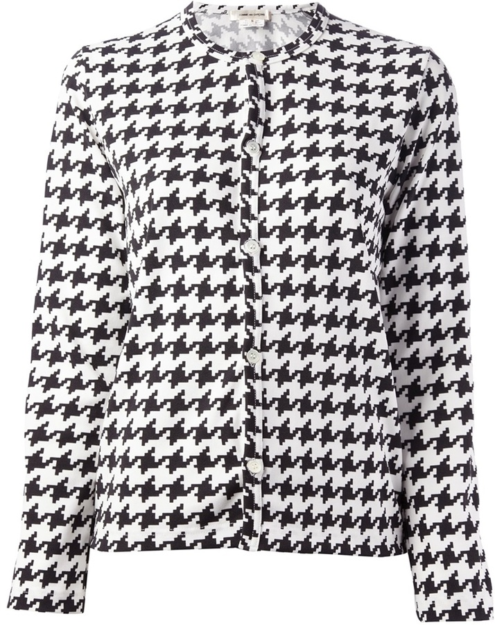 Comme des Garcons houndstooth check cardigan