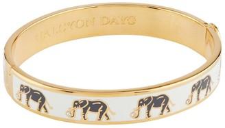 Halcyon Days Gold Plated Elephant Bangle