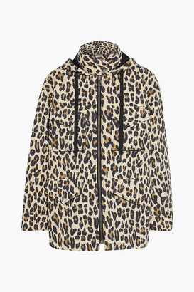 Alice + Olivia Russo Leopard-print Cotton-blend Twill Hooded Jacket