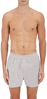 Sunspel Men's Chevron Cotton Poplin Boxer Shorts